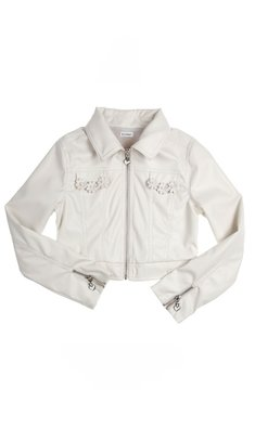 Gymp jacket leatherlook offwhite