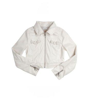 Gymp jacket leatherlook offwhite