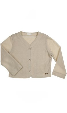 Gymp cardigan 3/4 sleeve gold