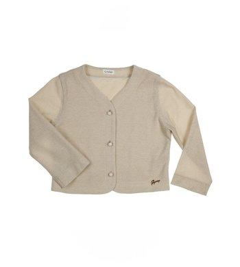 Gymp cardigan 3/4 sleeve gold