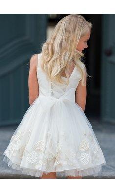 Gymp jurk bruidsmeisje Elfriede offwhite/goud bestseller