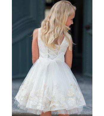Gymp jurk bruidsmeisje Elfriede offwhite/goud