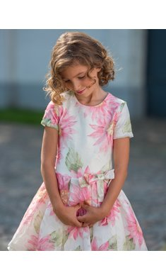 Gymp jurk bruidsmeisje Liesel offwhite/roze bestseller