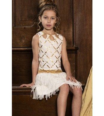 LoFff Dress Afrodite Off white - gold