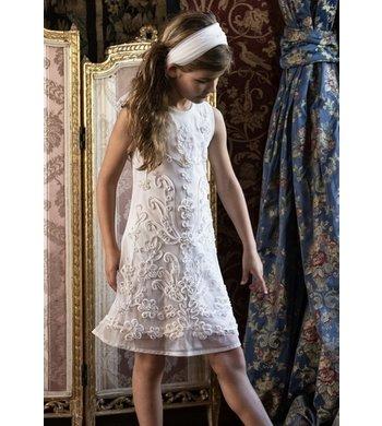 LoFff Dress Arabella Off White embroidery