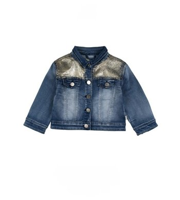 Rumbl Royal denim jacket gold