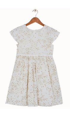 Derhy Kids dress Maina ecru gold