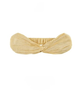 Creamie headband silver stripe rattan