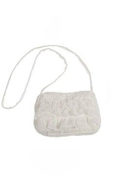Gymp bag with ruffles offwhite