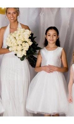 Happy Girls dress flowergirl offwhite