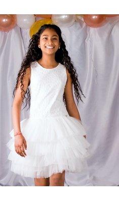 Gymp jurk bruidsmeisje offwhite