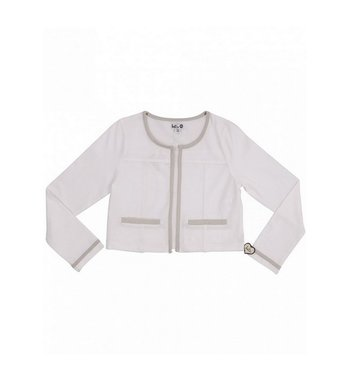 LoFff Pretty Jacket Optical white with silver bindings