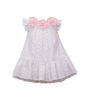 Bonnie Jean dress eyelit dress white