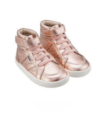 Old Soles leather high sneaker copper rose gold