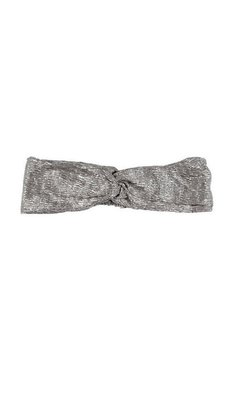 Rumbl Royal haarband knoop taupe zilver