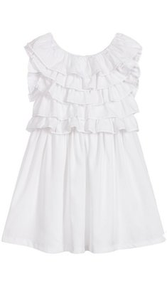 Billlieblush ruffle dress white