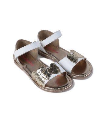 Billlieblush sandaaltjes wit met goud