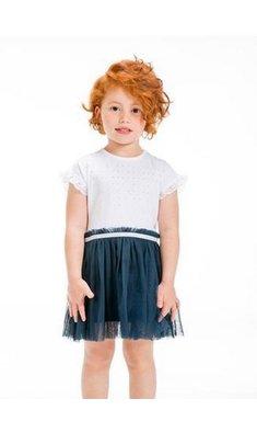 UBS.2 jurkje met tule rokje wit / blauw