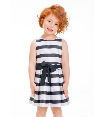 UBS.2 party dress striped navy/white