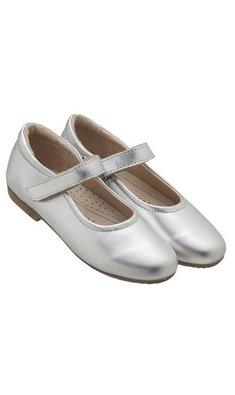 Old Soles leren ballerina zilver