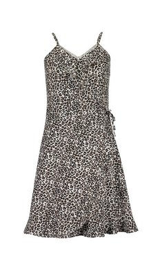 Blue Seven dress leopard print