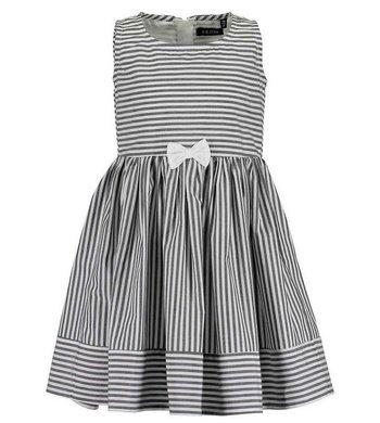 Blue Seven  jurkje gestreept grijs/wit