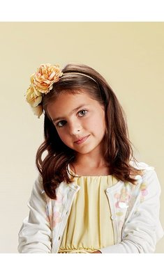 Creamie hairband flower popcorn yellow