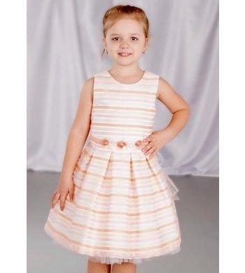 Gymp dress offwhite/peach/pink