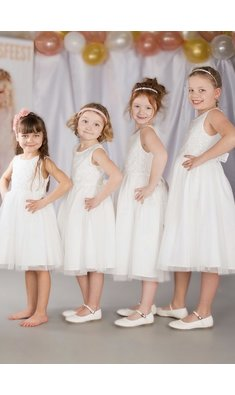 Happy Girls dress flowergirl offwhite