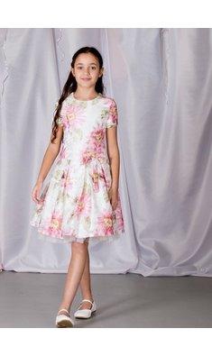 Gymp jurk bruidsmeisje Liesel offwhite/roze
