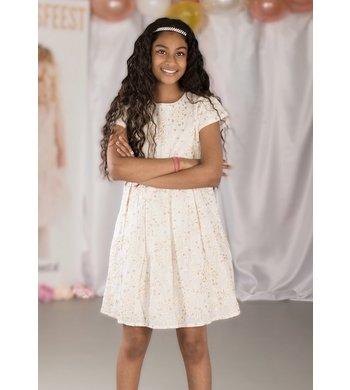 Derhy Kids dress Maina ecru gold