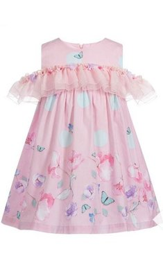 Lapin House dress ruffle pink