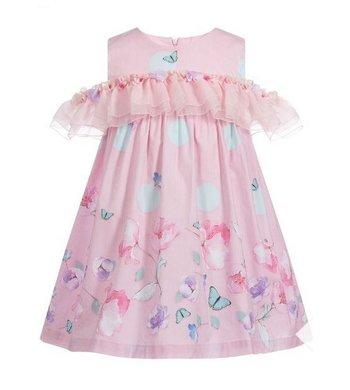 Lapin House dress ruffle pink