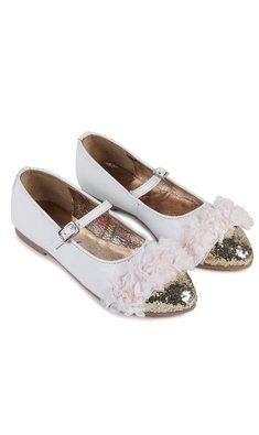 Billlieblush ballet flats with golden point