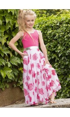 LoFff dress Barcelona pink roses
