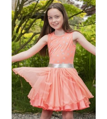 LoFff dancing dress peach silver dots