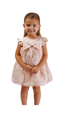 Bonnie Jean party dress peach
