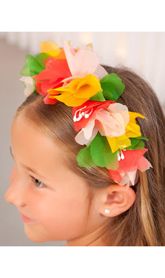 Abel & Lula headband red yellow green