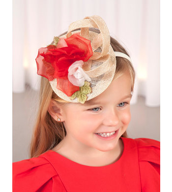 Abel & Lula headband fascinator red