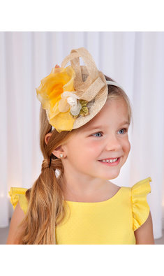 Abel & Lula headband fascinator yellow