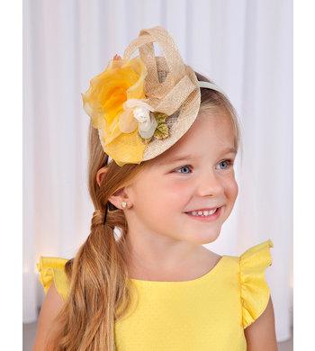 Abel & Lula headband fascinator yellow