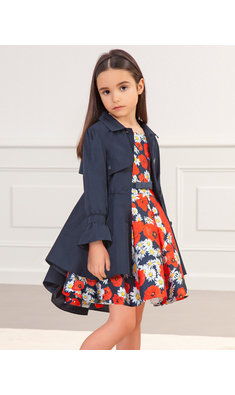 Abel & Lula coat navy