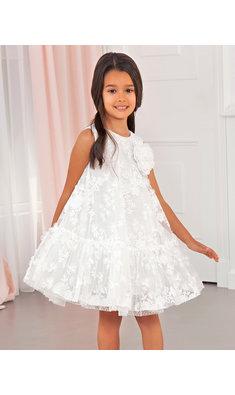 Abel & Lula lace dress offwhite