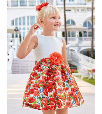 Abel & Lula poppy dress red