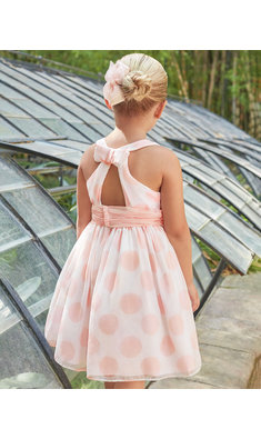 Abel & Lula polka dot dress pink