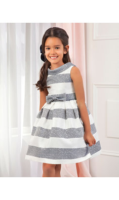 Abel & Lula striped fantasy dress navy