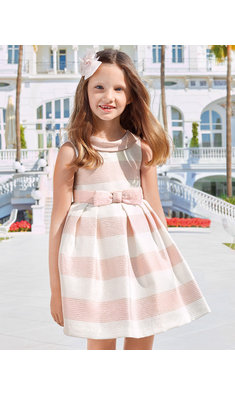 Abel & Lula striped fantasy dress pink