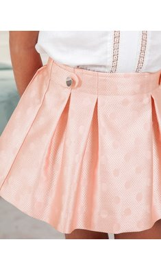 Abel & Lula polka dot skirt pink