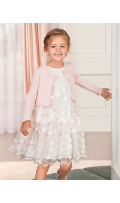 Abel & Lula dress offwhite pink flowers