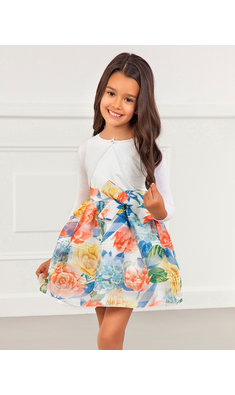 Abel & Lula flower dress offwhite/multi